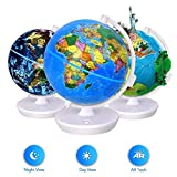 Smart World Globe - 2 in 1 Illuminated Globe with Built-in Augmented Reality