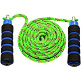 Anna's Jump Ropes Double Dutch Rainbow Cloth Rope with Handles for Kids
