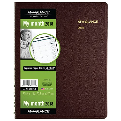 AT-A-GLANCE Monthly Planner, January 2018 - January 2019, 8-7/8