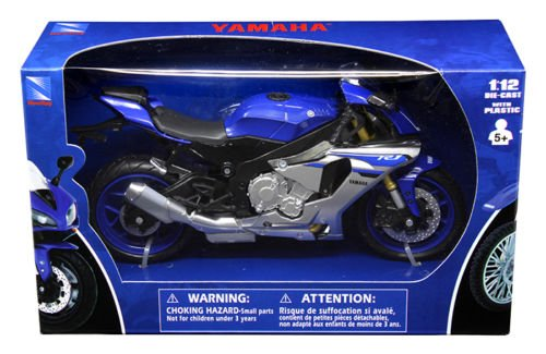 New 1:12 Motorcycles - BLUE YAMAHA YZF-R1 Model By NEW RAY TOYS