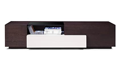 Amazon.com: J and M Furniture 178731 TV015 TV Stand, Brown ...