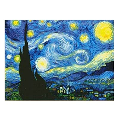 Van Gogh The Starry Night Cross Stitch Kit