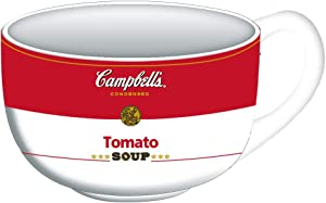 Silver Buffalo Campbell's Tomato Ceramic Soup Mug, 24-Ounce, white/red