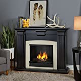 Real Flame Adelaide Indoor Gel Fireplace in Black Wash