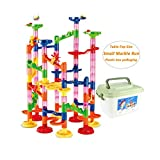 WTOR Marble Run Coaster Railway Toy Marble Adventure New Challenge Game 105 Pieces Marbles Race Game Learning Railway Construction Maze Toy Game Construction Learning Toys for Kids Children Students,DIY Intellectual Building Toy for Educational and Creative Imagination Development