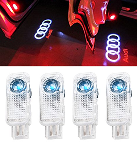 JIAFENG Car Door LED Projector Shadow Lights for Audi (4 Pack)