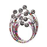 N-Town Boutique Crystal Flower Brooches for Women Rhinestone Elegant Plant Brooch Pins Summer Dress Accessories,Gray