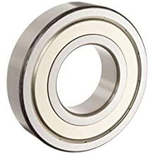 NSK 6205ZZC3 Deep Groove Ball Bearing, Single Row, Double Shielded, Pressed Steel Cage, C3 Clearance, Metric, 25mm Bore, 52mm OD, 15mm Width, 13000rpm Maximum Rotational Speed, 1765lbf Static Load Capacity, 3147lbf Dynamic Load Capacity