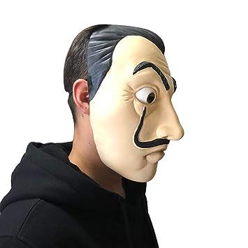 JYYC Máscara de La Casa de Papel Máscara de Cosplay de Salvador Dalí Latex Máscaras de