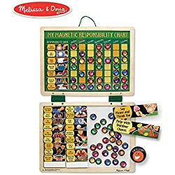 "Melissa & Doug Magnetic Responsibility and Chore Chart (Developmental Toys, Encourages Good Behavior, 90 Pieces, 15.75"" H x 11.75"" W x 0.5"" L)"