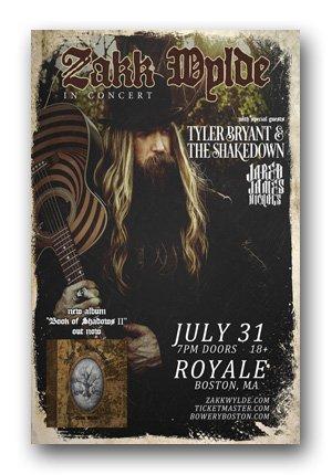Zakk Wylde Poster - of Black Label Society - Concert Book of Shadows II Tour ()