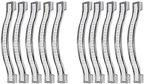 MARGUERAS Lote de 10 pomos de puerta de cristal para armario 96mm 96 mm