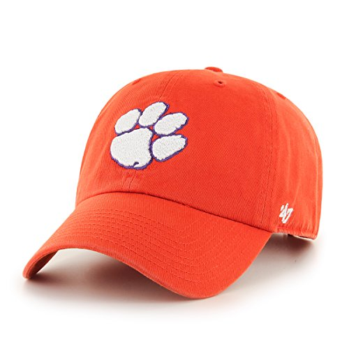 ('47 NCAA Clemson Tigers Clean Up Adjustable Hat, One Size,)