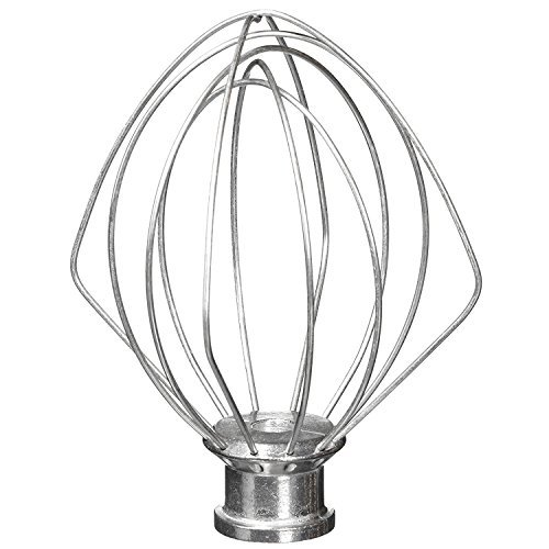 6-Wire Whip Attachment Fits KitchenAid Tilt-Head Stand Mixer Replace K45WW, Stainless Steel, Egg Heavy Cream Beater, Cakes Mayonnaise (Stainless Steel Wire Whip)