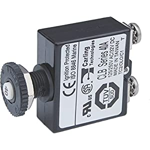 Blue Sea Systems Push Button Reset Only Screw Terminal 40A Circuit Breaker