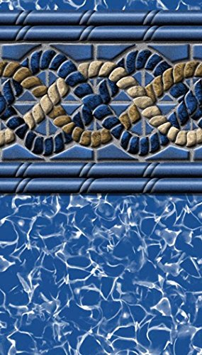Pool Liner Above Ground Uni-Bead 18 Ft. Round x 48 In. H - GLI Aqualiner South Beach Tile Pattern - 25 ML Gauge - 20 Year Warranty - Made USA