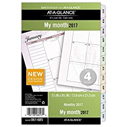 Day Runner Two Page Per Month Refill 2017, Monthly, Loose-Leaf, 5-1/2 x 8-1/2\