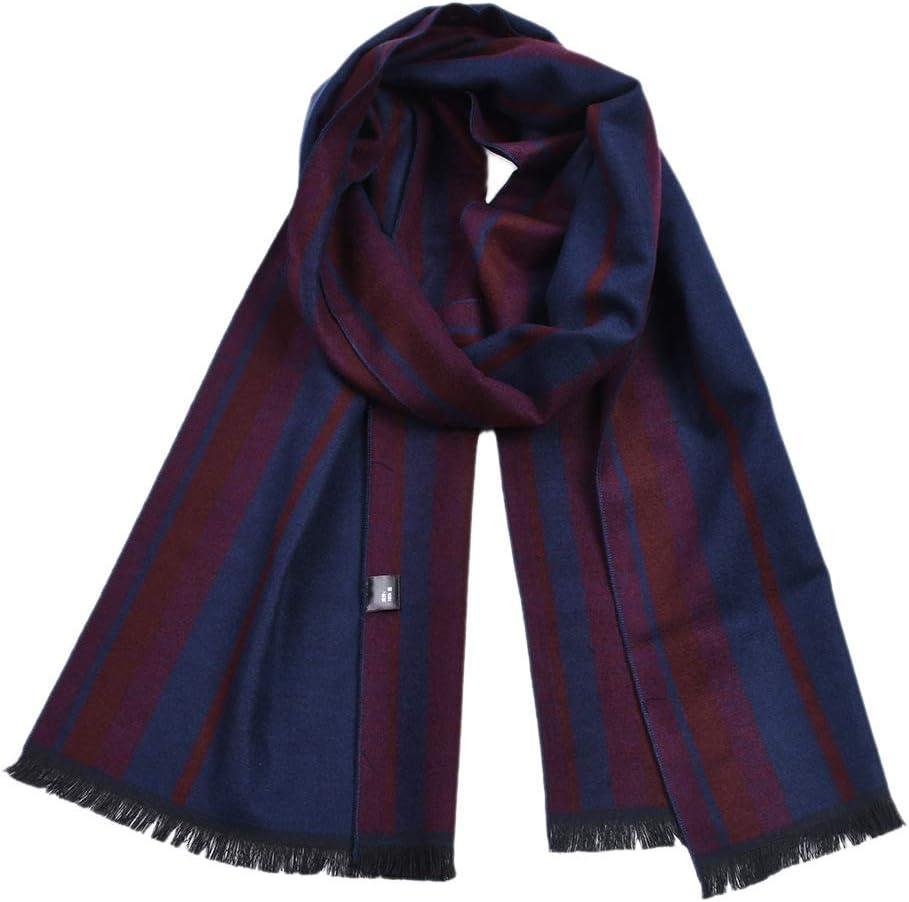 Color : 1, Size : 18030CM HONGkeke Mens Autumn Winter Warm Scarf Striped Neckerchief Tartan Scarves Paisley Bandannas Bandelet 18030cm for Men Long Shawls Fashion Durable