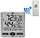 Ambient Weather WS-08 Wireless Indoor/Outdoor 8-Channel Thermo-Hygrometer with Daily Min/Max Display with One Remote Sensors