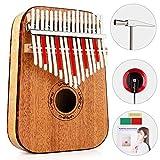 Vangoa - African Fingers Kalimba Thumb Piano Percussion Keyboard Mahogany Wood, Natural (17 Key ABS Edges with Bag)