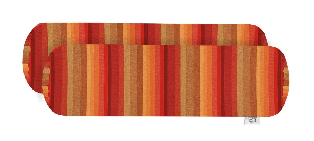 RSH Decorの屋内外装飾用ボルスターネックロールクッション2点セット サンブレラ アストリアサンセット 20