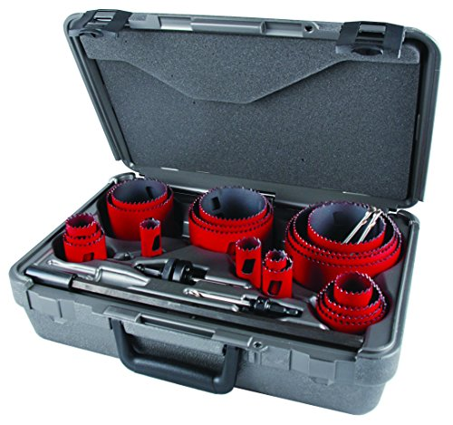 MK Morse MHS23M Bi-Metal Hole Saw Professional Tradesman Kit, -