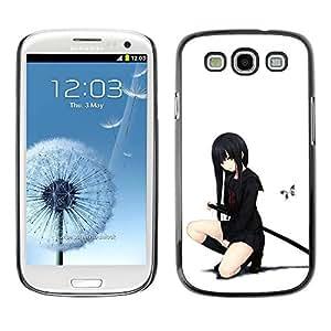PC/Aluminum Funda Carcasa protectora para Samsung Galaxy S3 I9300 Samurai Japanese Stockings Girl / JUSTGO PHONE PROTECTOR