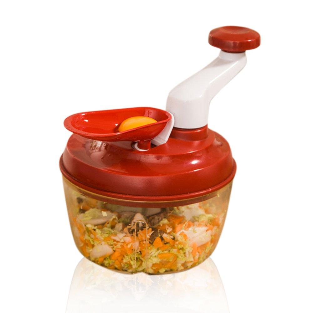 Cocina Picadora manual de alimentos, potente de verduras/picadora batidora de/para cortar fruta, verduras, cebollas, tuercas, ajo, especias, para salsa, ...