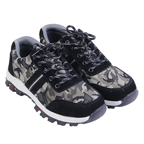 Men's Toe Shoes Steel Camouflage Work Optimal Shoes Shoes Safety Black gHcUwZd