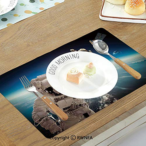 Homenon Insulation Table Mats Western Bodie State Historic Park Ghost Town in California United States Arid Country Decorative Non-Slip Heat Resistant Decor Placemat Light Blue Beige