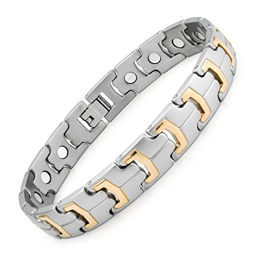 FIBO STEEL Titanium Magnetic Bracelets