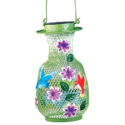 LED Solar Hummingbird Outdoor Garden Lantern