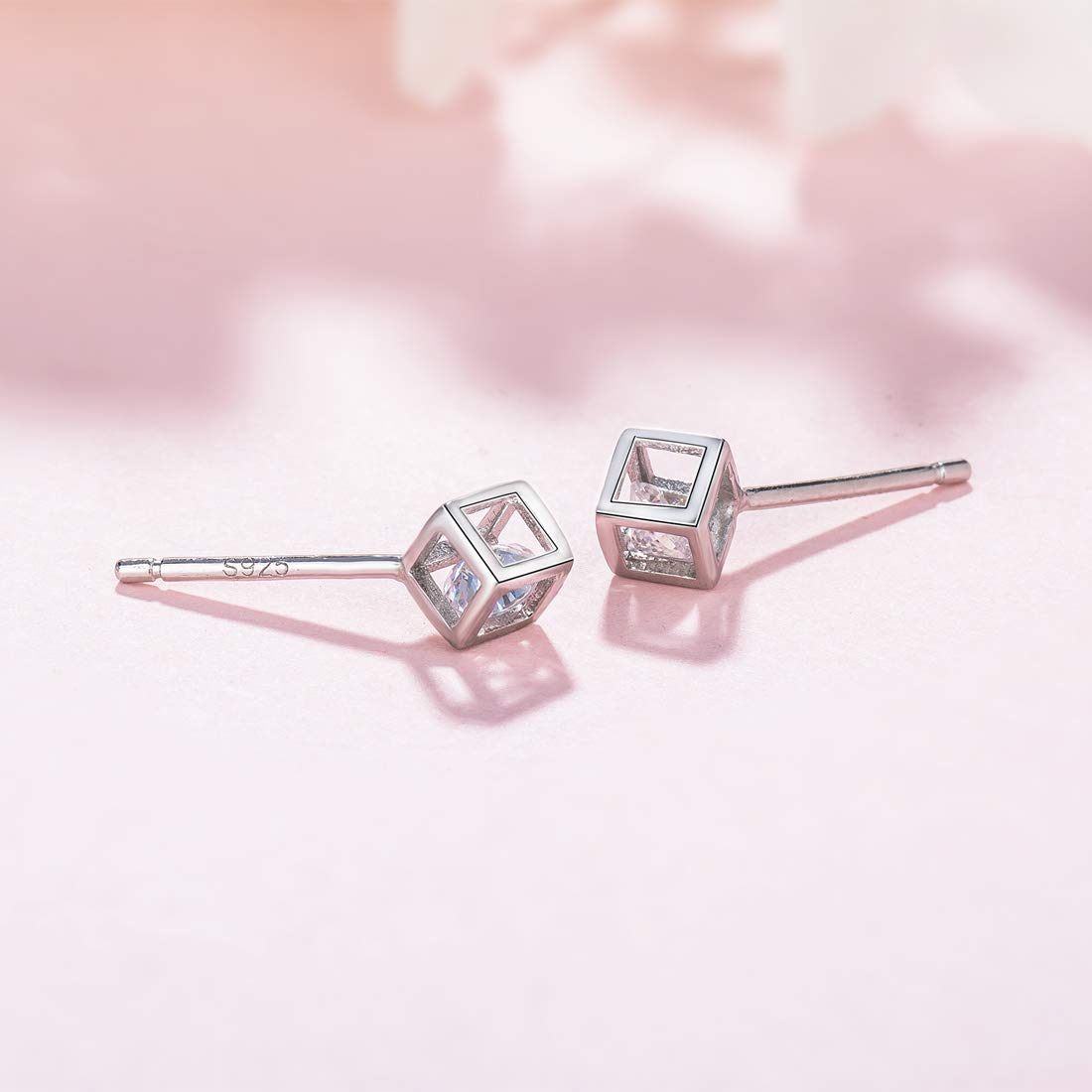 Professional Sale 0.4cm Diamante Silver Plated Stud Earrings 100% High Quality Materials Costume Jewellery