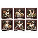 "Pimpernel Chef's Specials Coasters S/6 4.25"" Sq"
