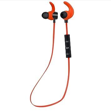 Auriculares inalámbricos de moda Lemus Bluetooth V4.1 Earbud estéreo ligero con conexión magnética auriculares Sweatproof (naranja) 1pc: Amazon.es: ...