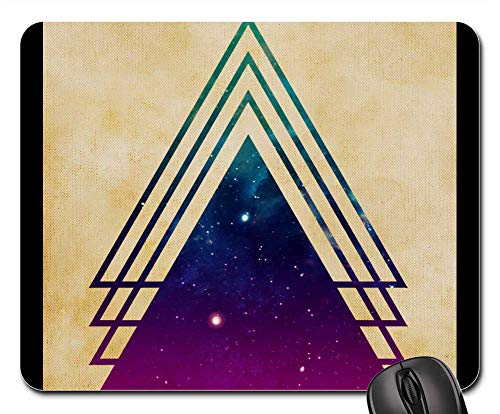 Mouse Pads - Background Form Triangle Abstract Color 1 ()