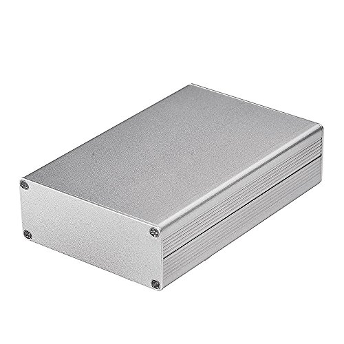 Eightwood Aluminum Project Box Electronic Enclosure Case for PCB Board DIY, 4.32'' x 2.82'' x 1.13''(LWH) Symmetrical Split Body with Stripped Sides Box by Eightwood (Image #3)