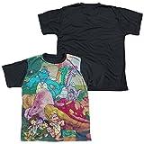 Dragon Tales - Mushroom Meadow Youth Black Back 100% Poly T-Shirt