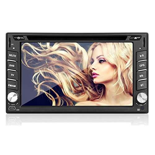 "In-Dash Navigation AV Receiver with 6.2"" Touchscreen Display Double 2 Din Car Radio DVD Player GPS Radio Stereo Video Player Headunit"