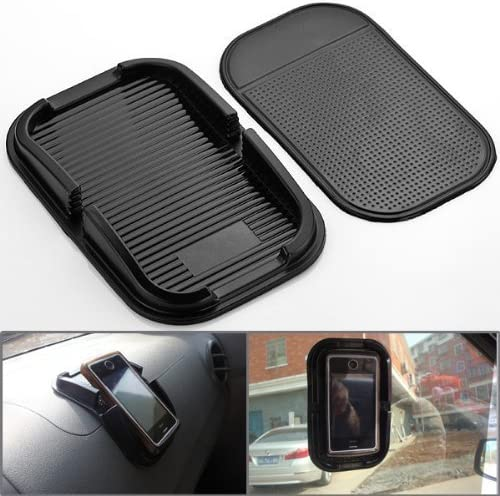 zolink Black Car Accessory Rubber Sticky Pad Dash Mount Holder for Samsung S5//s4//s3//iphone 4//5//5s//5c//6 and Others Cell Phone