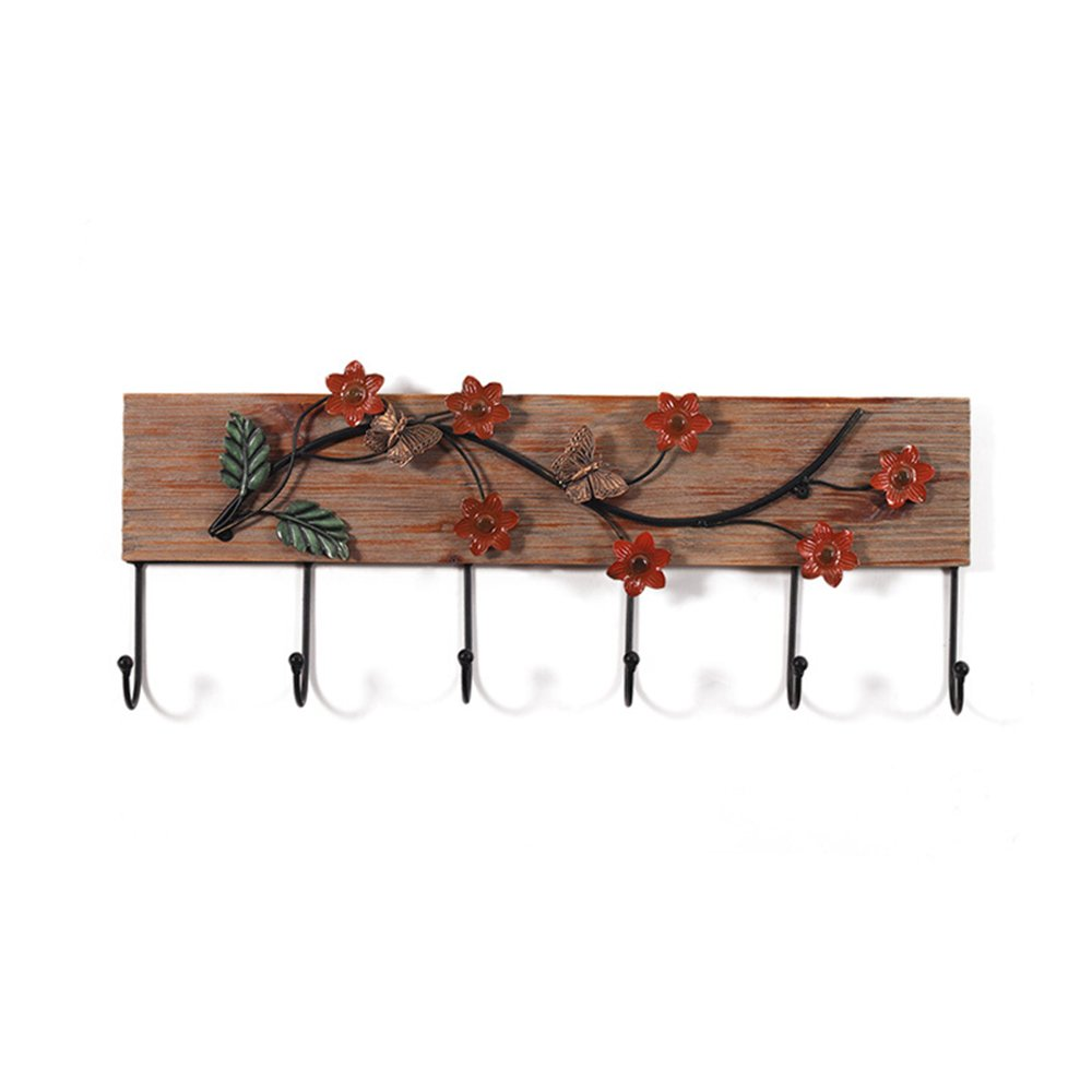 Pastoral style hanging hanger / wooden decoration hook / personalized home solid wood clothes hanging clothes hanging clothes hook ( Size : 6526.7cm )