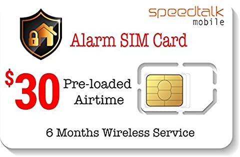 $30 Prepaid Alarm SIM Card for GSM Home Security Alarm System + GPS Tracker (Cellular Car Alarm)