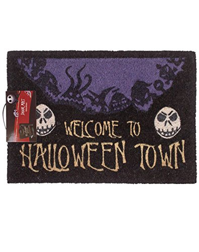 Official The Nightmare Before Christmas Welcome To The Halloween Town Doormat]()