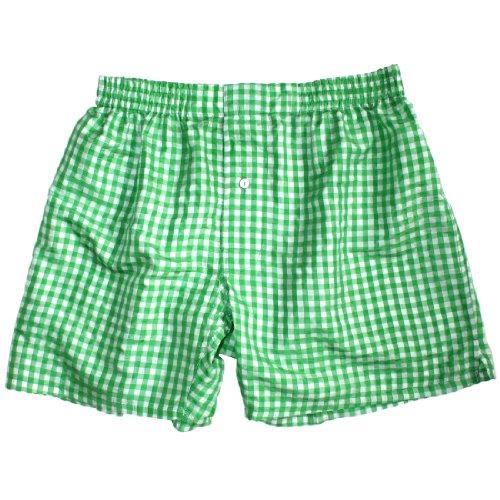 Island Green Checks Silk Boxers - Size L - 35