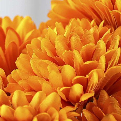 Factory Direct Craft® Richly Colored Golden Yellow Artificial Fall Mum Floral Bush for Crafting, Arranging and Displaying