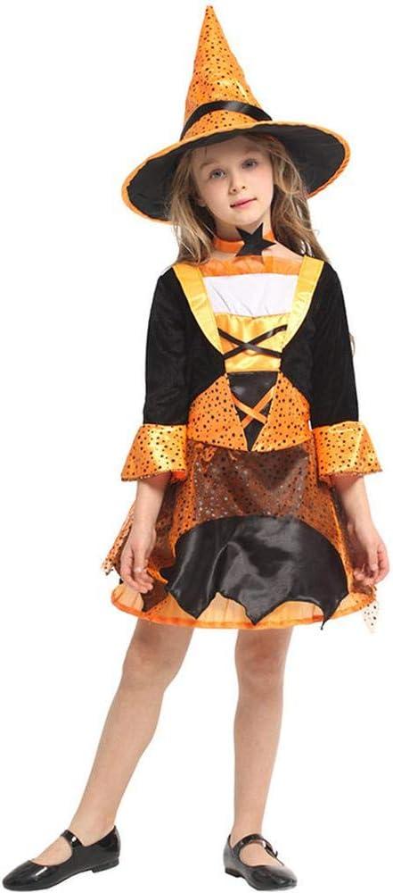 cosplay Halloween Ropa para Niños Falda De Bruja Disfraz De Bruja ...
