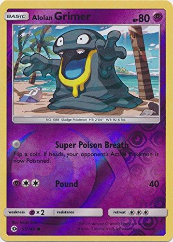 Amazoncom Alolan Grimer 57149 Common Reverse Holo Pokemon