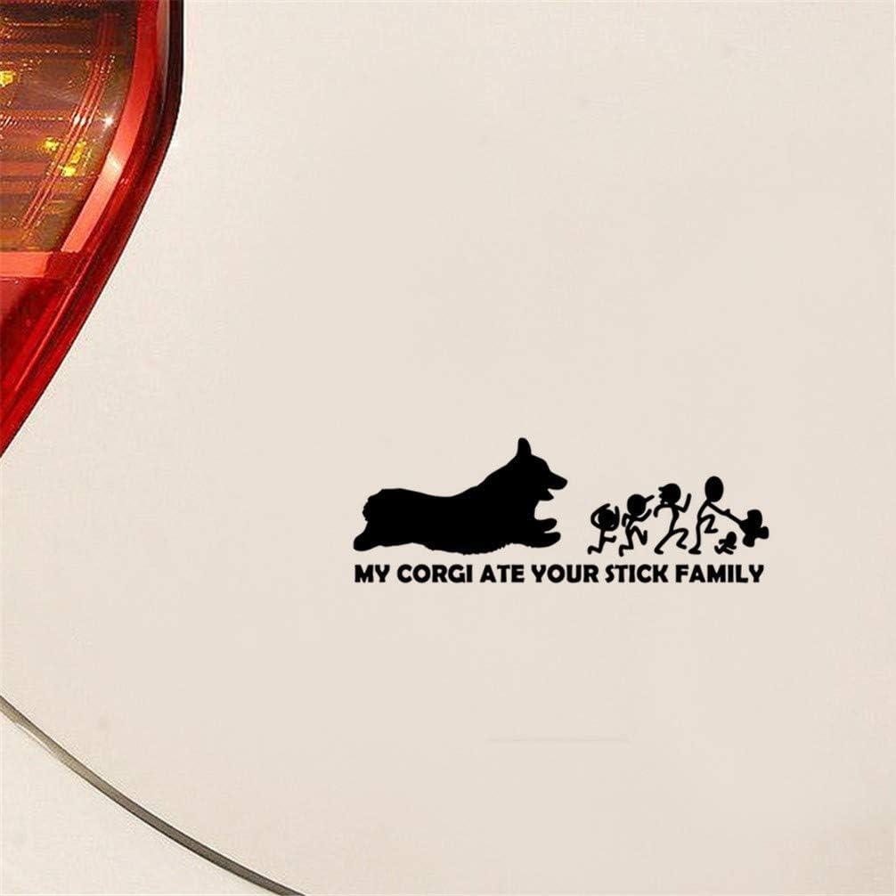 Vinyl car window sticker--Corgi dog car decal I love my corgi