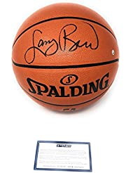 Larry Bird Boston Celtics Signed Autograph NBA Game Basketball Steiner Sports Certified