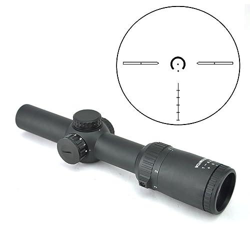 Visionking Optics 1-8x24 Long Eye Relief Rifle Scope 1/10 MIL Low Profile Turret Illuminated Dot